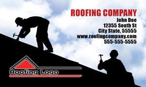 Roofer Business Card Designs Roofer Postcards Door Hangers Leads