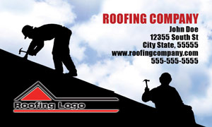 roofer business card designs postcards door hangers leads - Roofing Business Cards